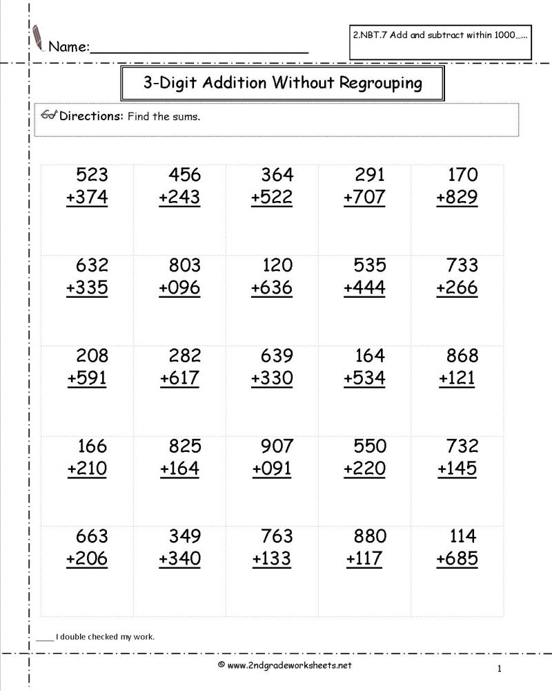 medium resolution of Printable Math Addition Worksheets For 2nd Grade di 2020   Matematika