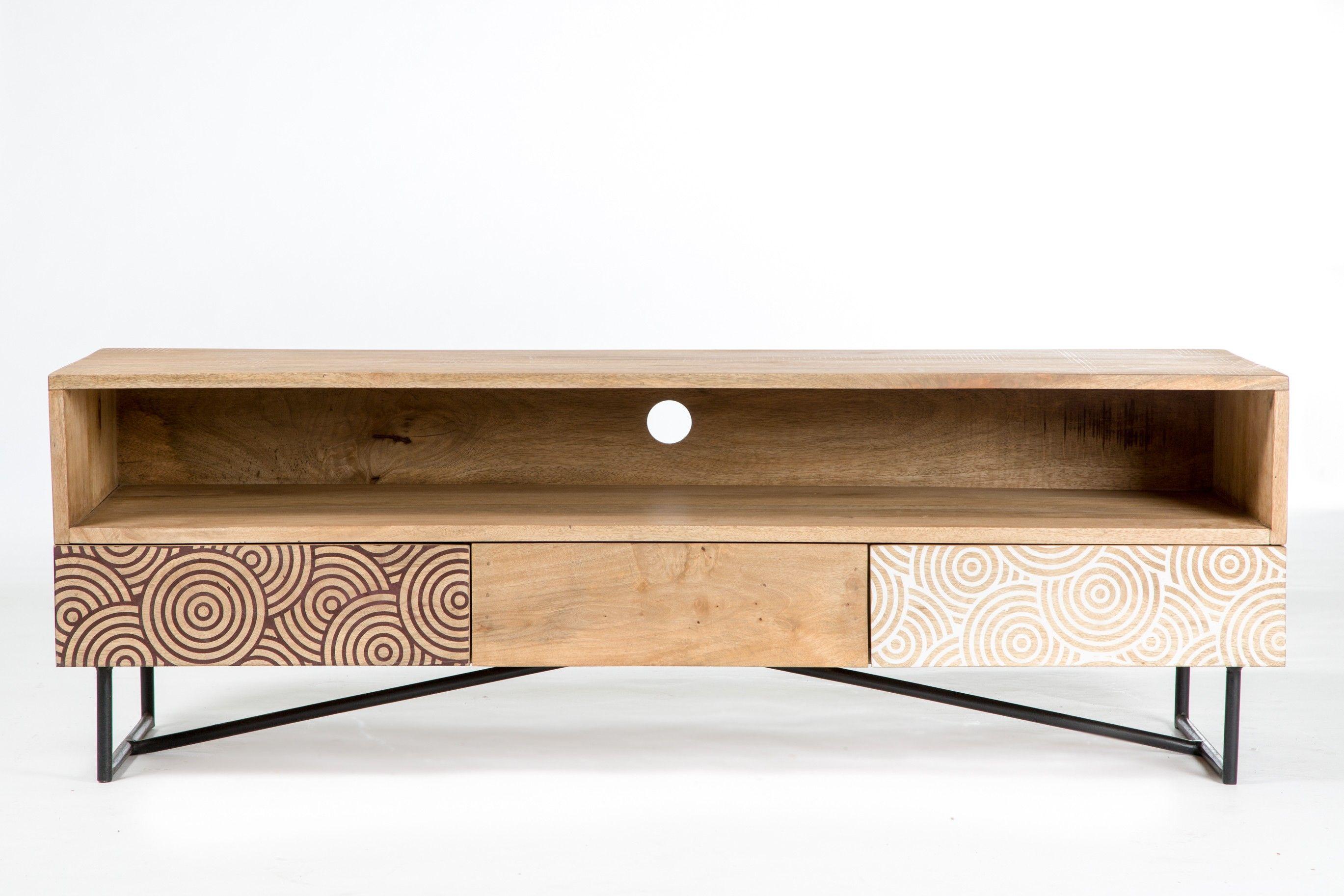 inspirant meuble tv bois metal Décoration fran§aise