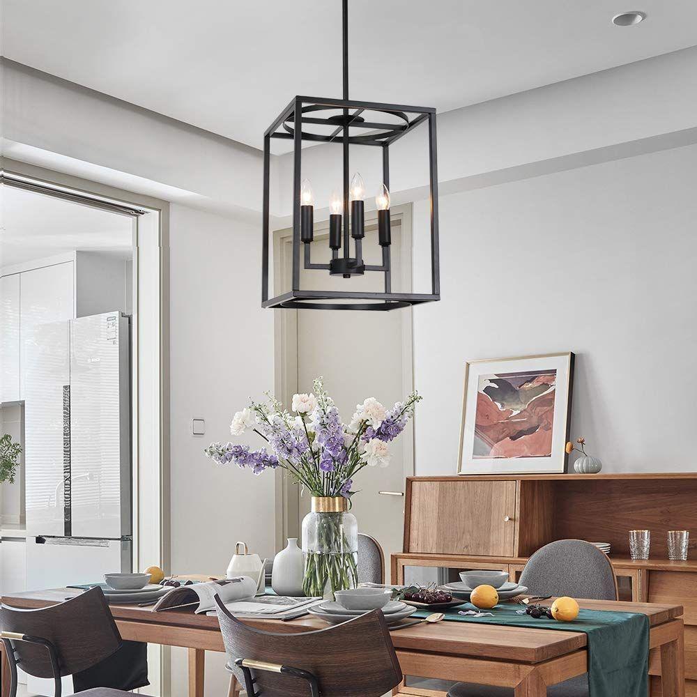 4 Light Pendant Light Ceiling Chandelier Lighting Fixture Metal Pendant Vintage Design Lighting for Indoor Kitchen Dining Hall Restaurant Entryway Bar