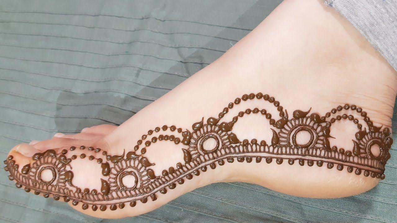 Simple Beautiful Feet Mehndi Design 2019