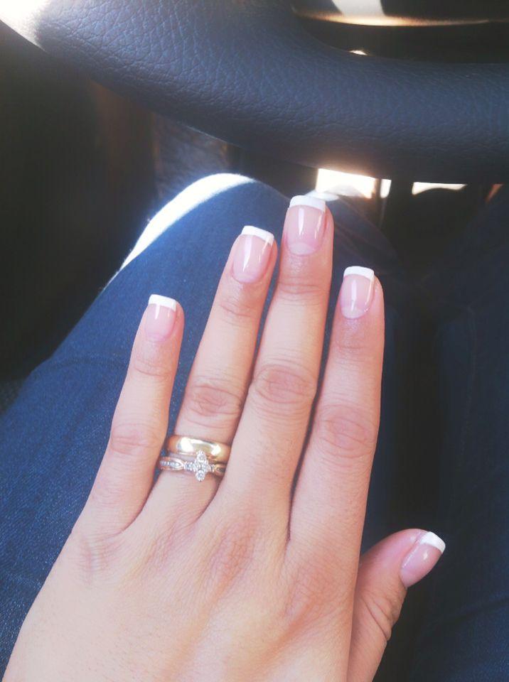 Manicure francés Uña punta blanca Nails | Uñas | Pinterest | Nail ...