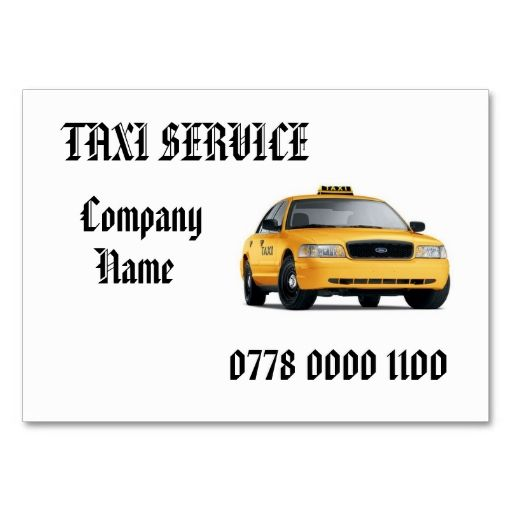 Card Templates TAXI CAB BUSINESS