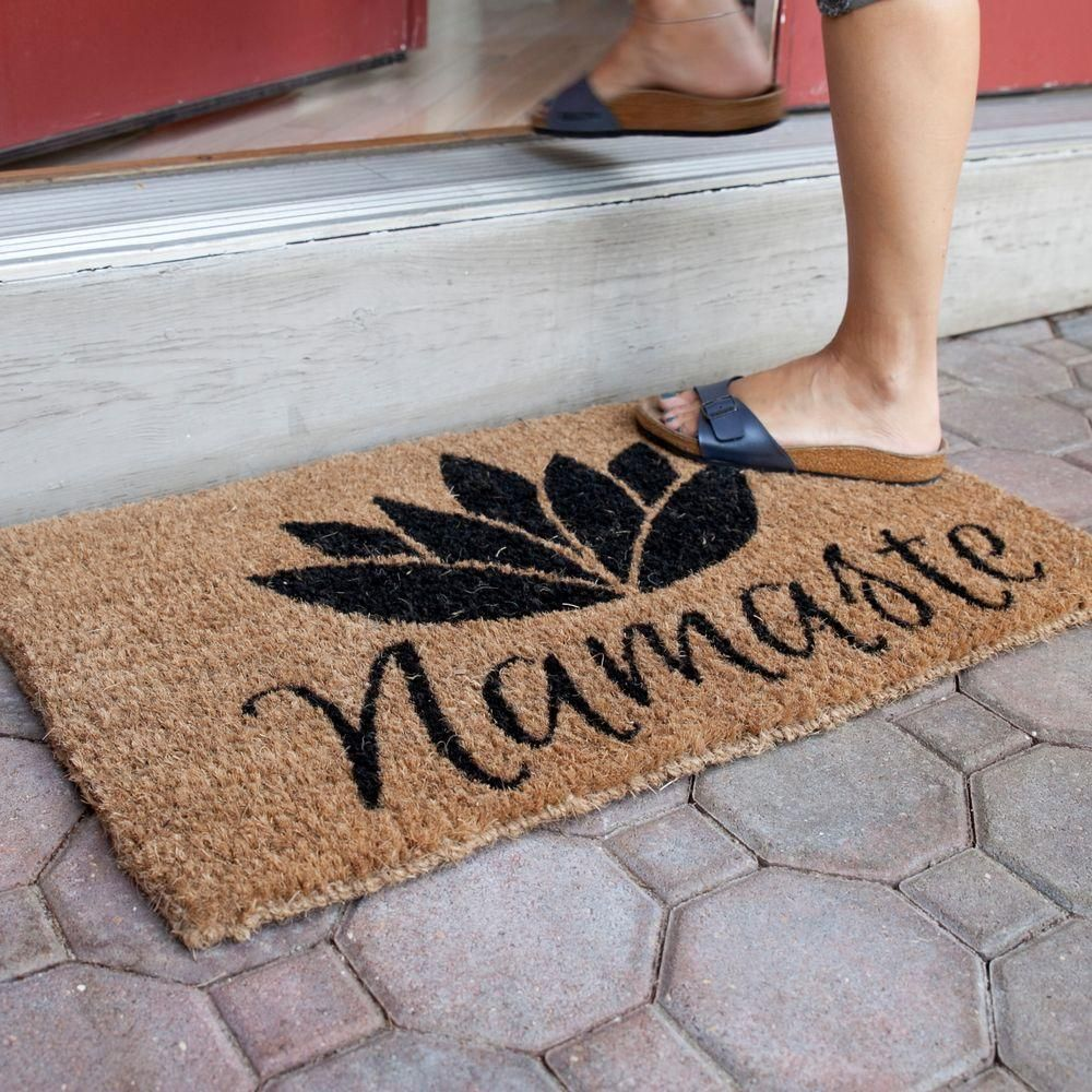Namaste 18 in. x 30 in. Hand Woven Coconut Fiber Door Mat, Browns ...