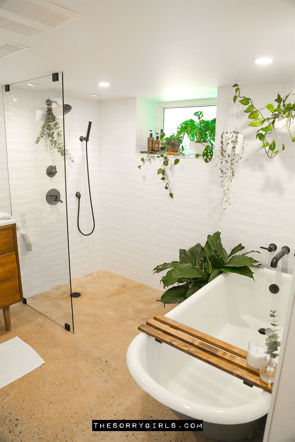 Complete Dream Spa Basement Bathroom Makeover Making Home The Sorry Girls In 2020 Bathroom Makeover Bathroom Spa Dreams Spa