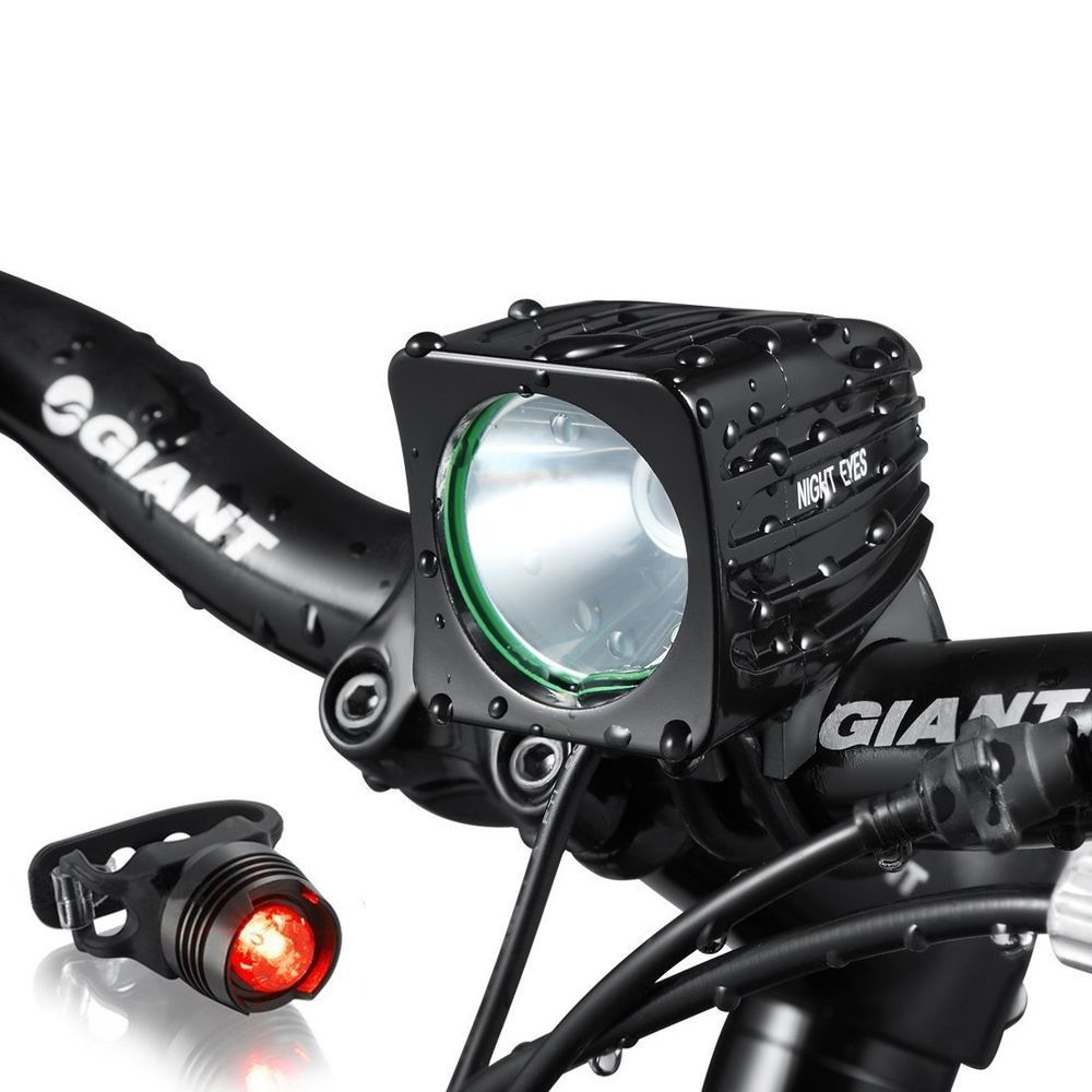 Night Eyes One Week Only 1200 Lumens Mountain Bike Headlight Bike Led Light Re Nighteyes Bike Lights Led Bike Led Bike Headlight