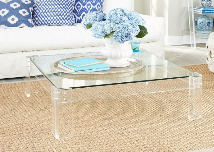Square Acrylic Coffee Table Coffee Table Acrylic Coffee Table