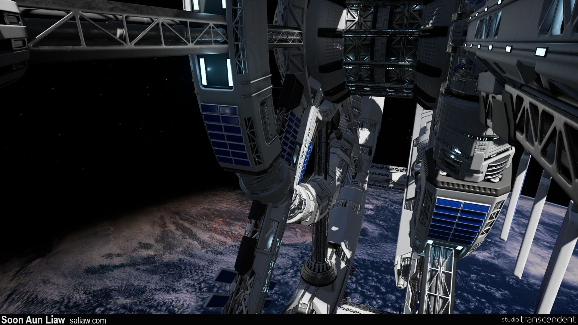 Artstation Space Dive Space Station Professional Soon Aun Liaw Diving Space Station Artwork