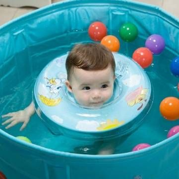 Safety Baby Swimming Neck Ring Swimming Circle Floating Bath ...