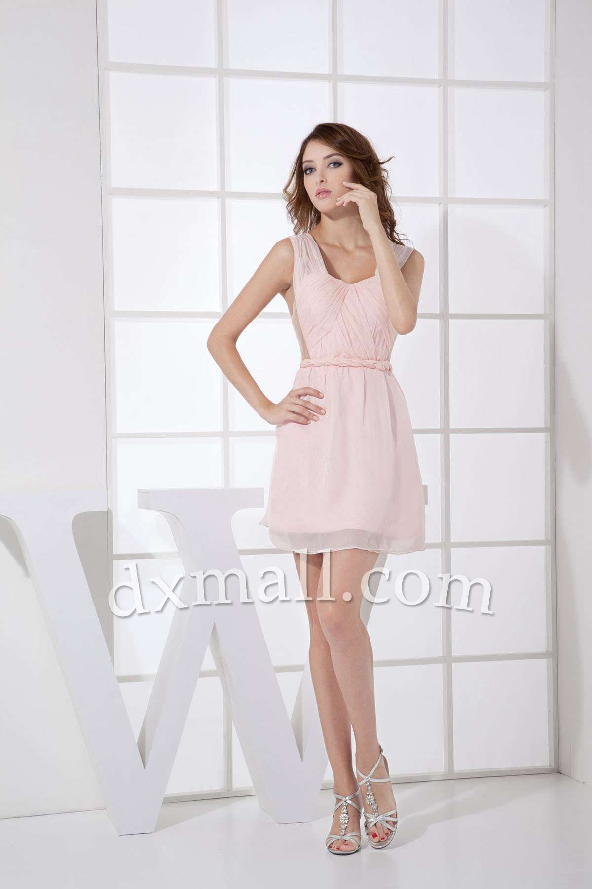 Baby Pink Wedding Guest Dress
