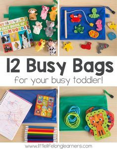 12 busy bags for toddlers kids crafts by cyndy waybright
