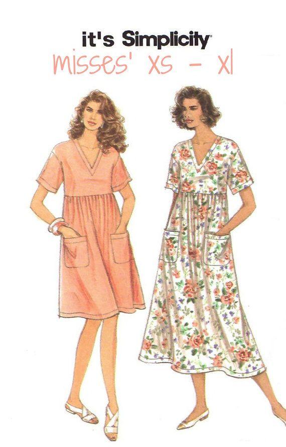 UNCUT Woman\'s Easy Pullover Caftan Vintage Sewing Pattern - 1994 ...