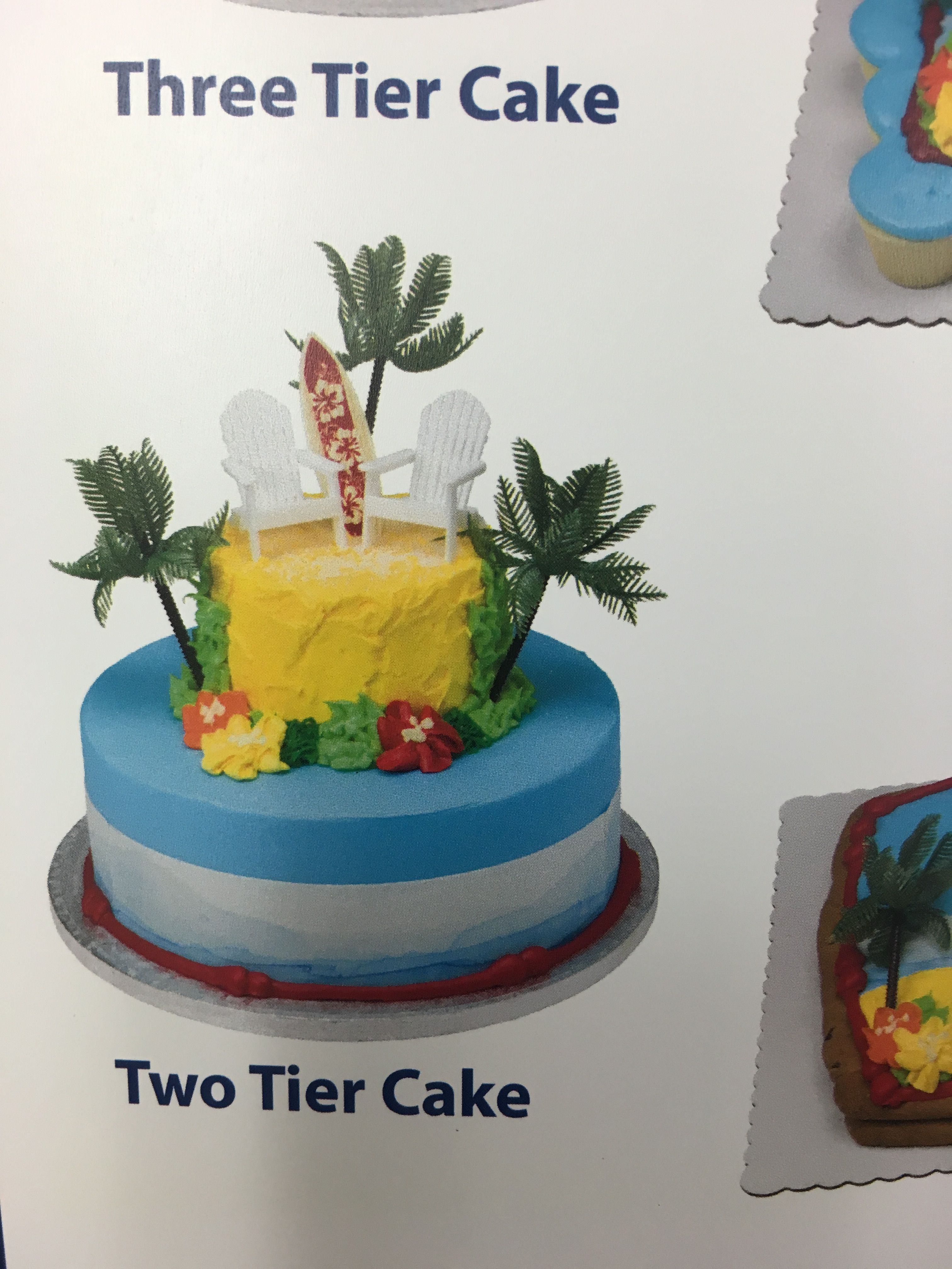 Marvelous Luau Cake From Sams Club With Images Luau Cakes Tiered Funny Birthday Cards Online Alyptdamsfinfo
