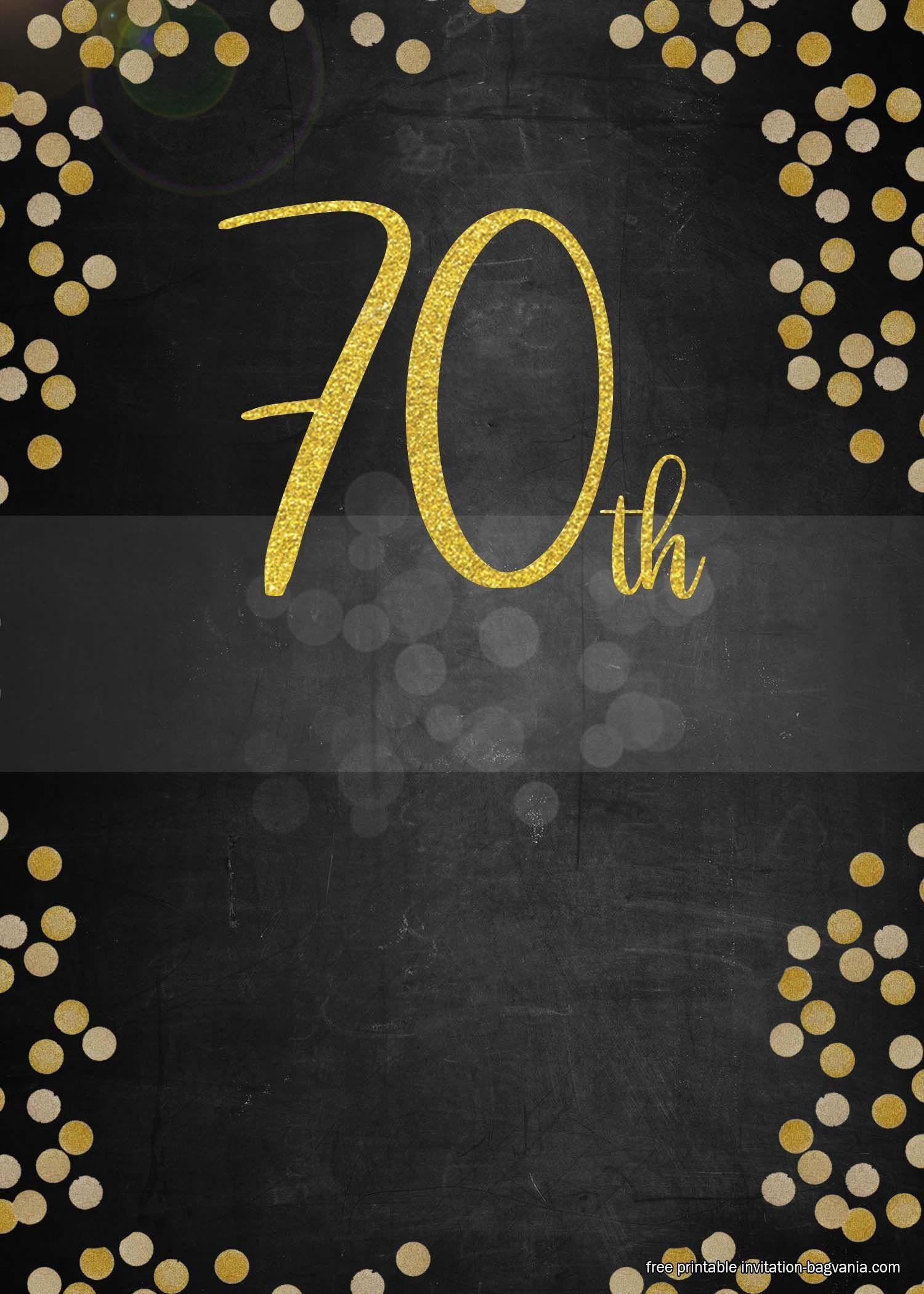 free printable 70th birthday invitation