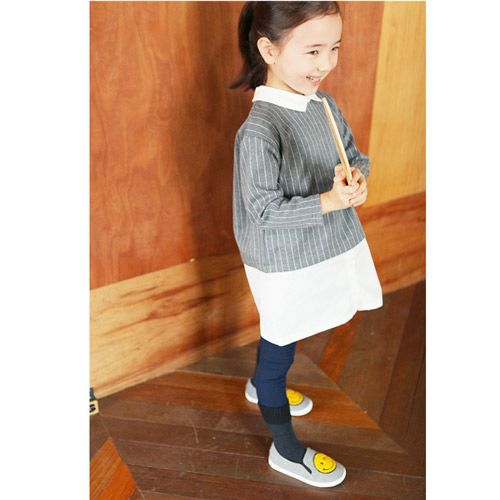 b5e4b99927b87 TinyPokke  s selection ピケストライプシャツワンピース -Tシャツ- 女の子 男の子 海外セレブ