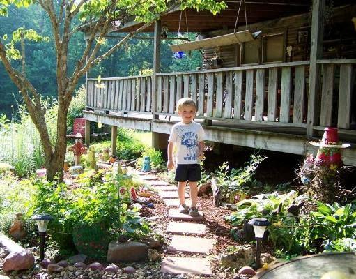 A garden fairy path any child can do!