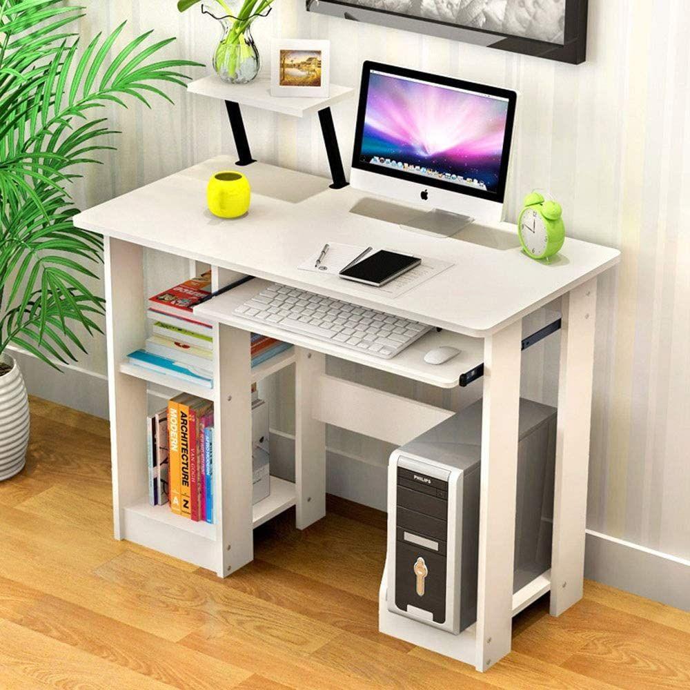 Computer Desk Space In 2020 Wooden Computer Desks Computer Desks For Home White Computer Desk