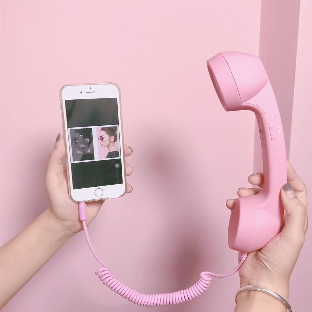 Retro Handset For Mobile Phone Tablet Laptop Accesorios Para