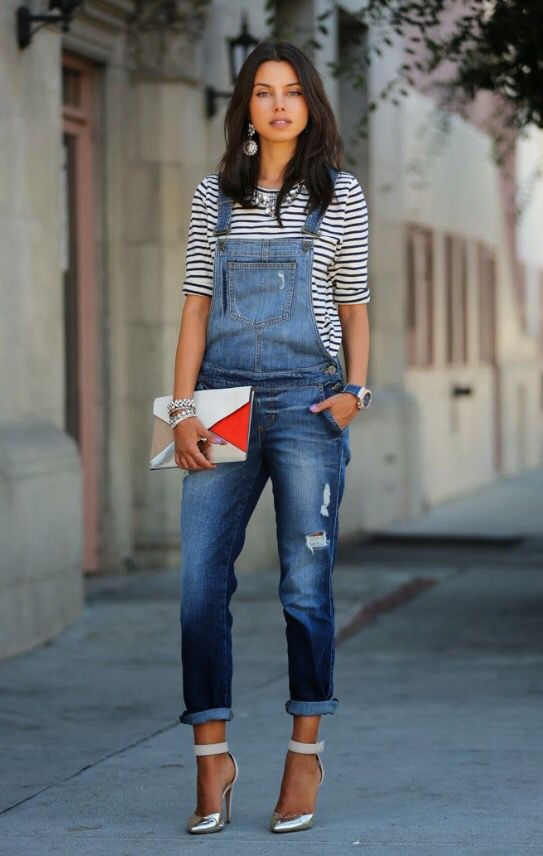 Overalls and Silver Pumps