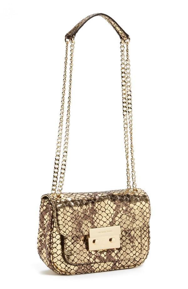 Michael Kors Snakeskin Chain Crossbody Bag