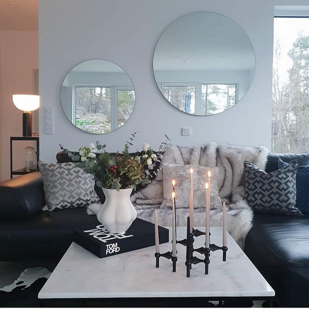 Coffee Table Decor Round Mirror Living Room Round Living Room Hall And Living Room