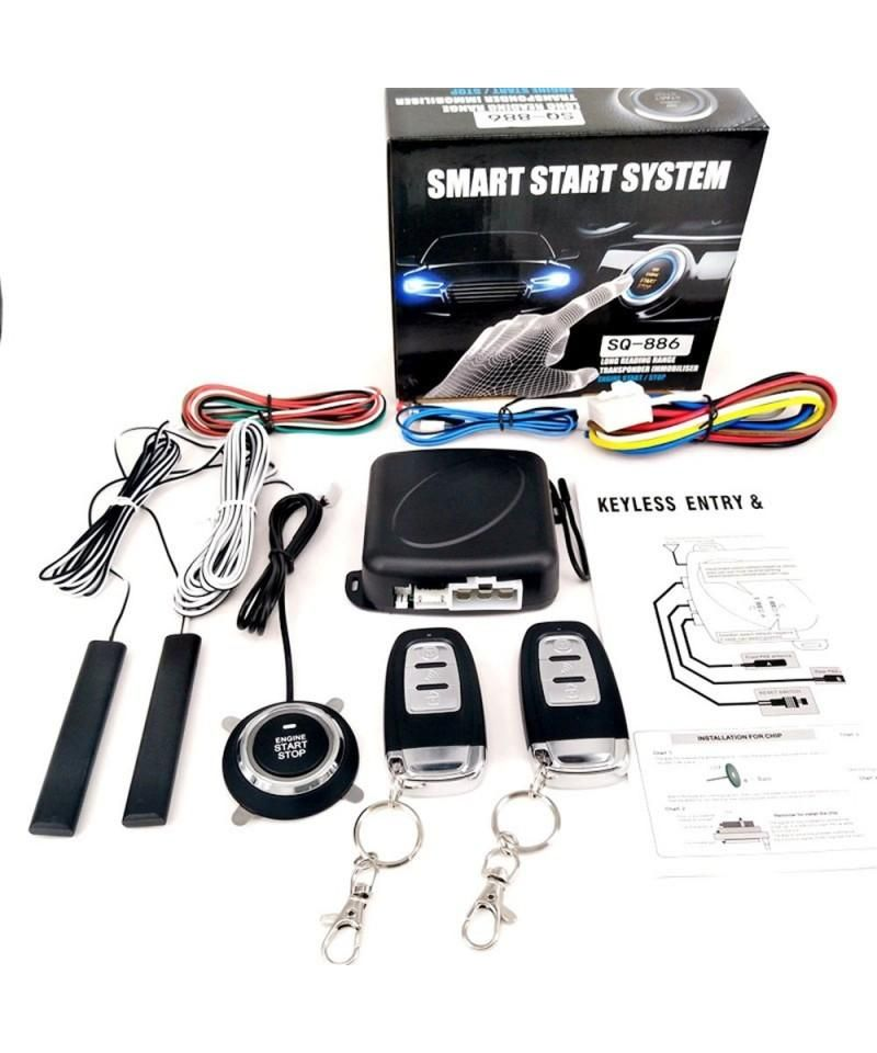 Car PKE Keyless Entry Alarm System Push Button Remote