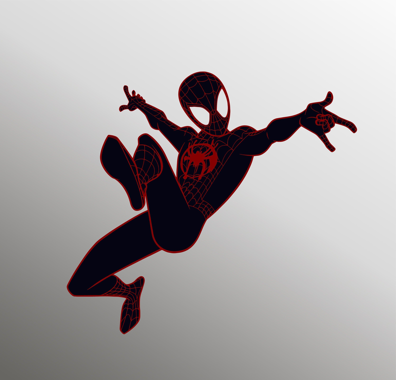 Spider Verse Svg Spider Man Svg Miles Morales Svg Into The Etsy In 2021 Miles Morales Spiderman Miles Morales Spiderman