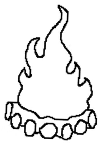 Fire Hat Coloring Page