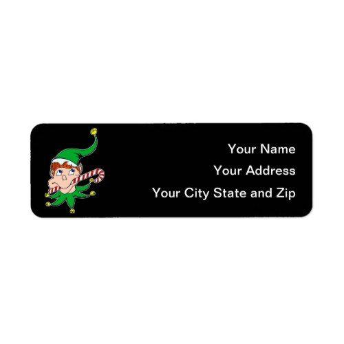 good pixie on black mailing label popular christmas address labels