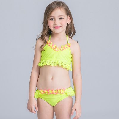 760c692f0e5 Children's Swimwear Girls Swimwear Kids Two-piece Children 1-2-3-4-5-6  Years Old Baby Girl Spa Swimwear Lovely Children Female   Import-express.com