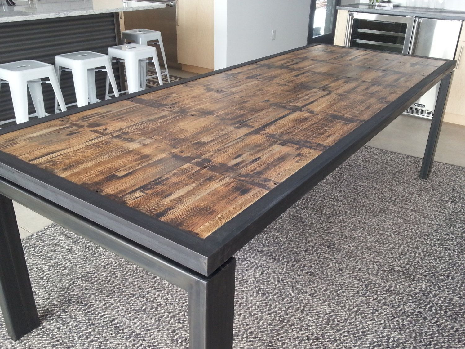 Modern Reclaimed Dining Table Reclaimed Dining Table Dining