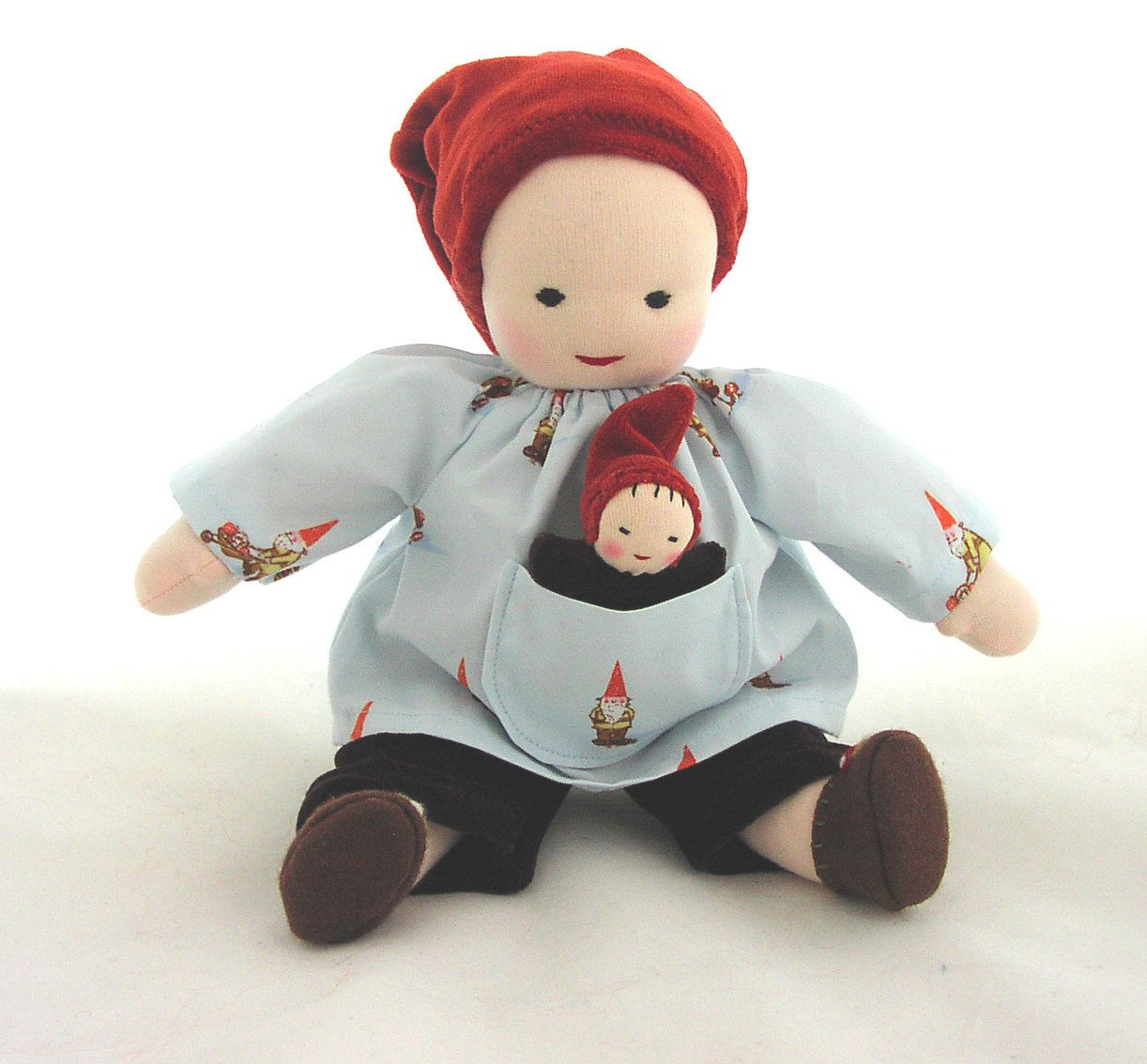 Doll toys images  GermanDolls  inch Gnome Doll with Pocket Baby Waldorf Toy