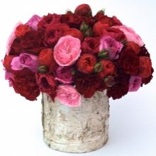 Super Lush Garden Roses. A Large Arrangement of Premium Flowers by Gabriela Wakeham Floral Design in New York City. Available for same-day flower delivery in NYC.