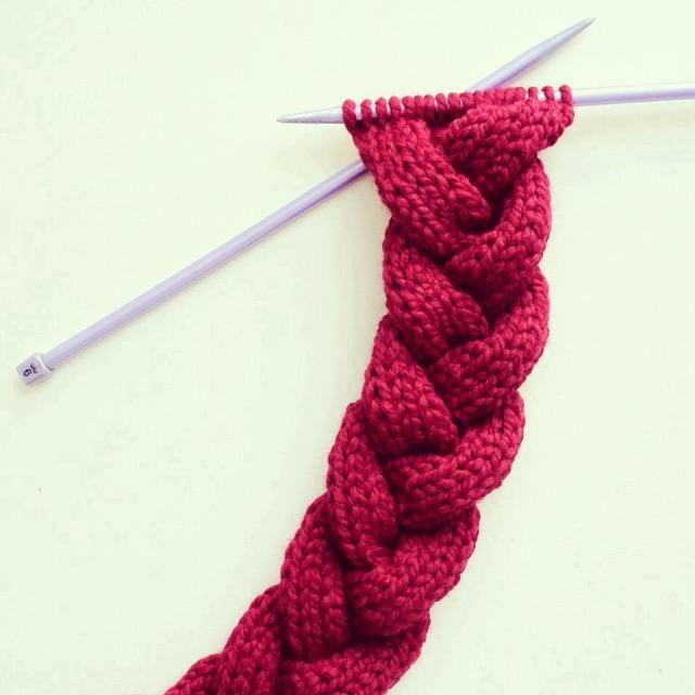 Trenza 18 puntos | Patrones lana | Pinterest | Trenza, Puntos y Tejido