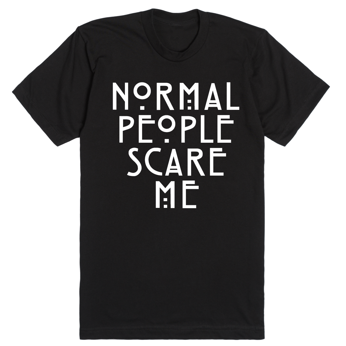 American Horror Story Normal People T-Shirt Manches Courtes Noir