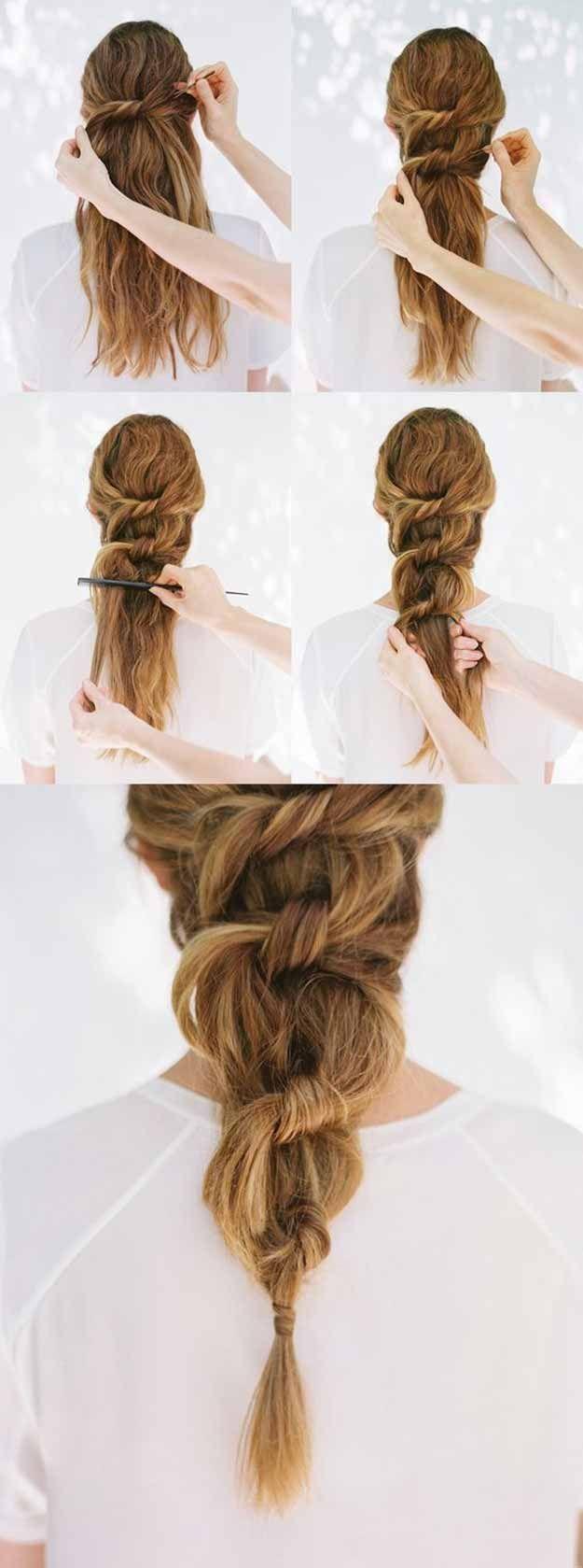 best pinterest hair tutorials knotted ponytail pinterest hair