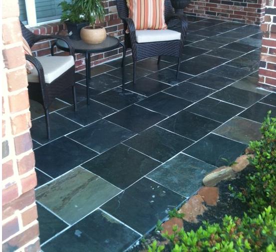 Black Slate Tile Patio