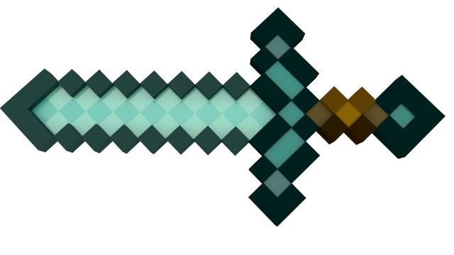 3d Model Minecraft Diamond Sword C4d Obj 3ds Fbx Ma Lwo 92079 Minecraft Diamond Sword Arts And Crafts Projects Sword