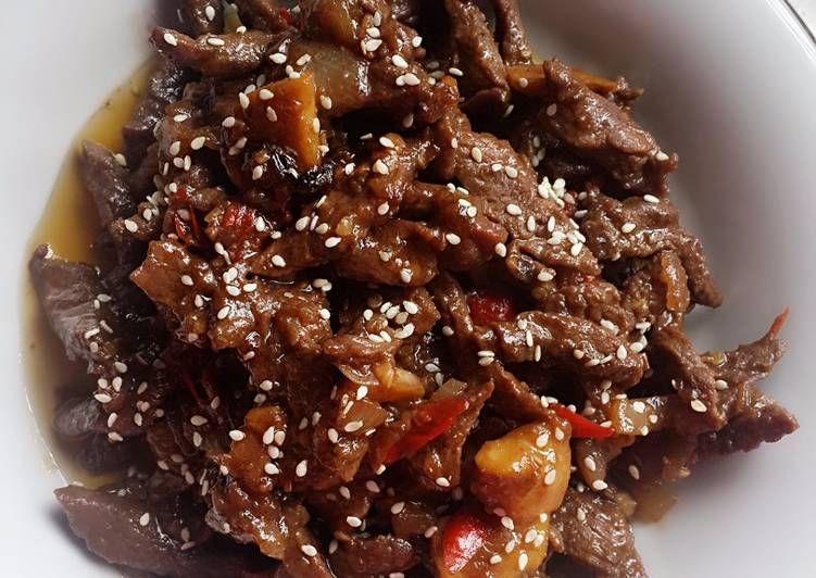 Resep Beef Teriyaki Ala Hokben Oleh Dr Mayya Butarbutar Resep Resep Makanan Resep Daging Sapi Memasak