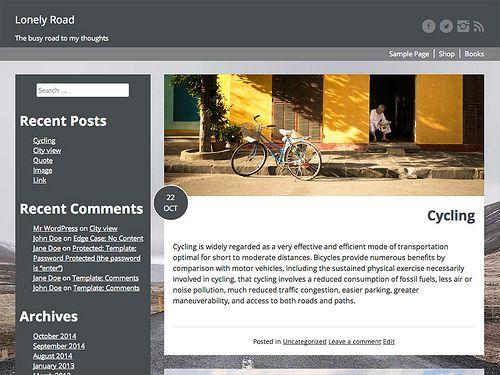 Lonely Road Best Free WordPress Themes   WWW   Pinterest   Wordpress ...