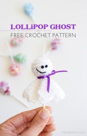 Lollipop del fantasma de la cubierta patrón de crochet libre - 10 patrones…