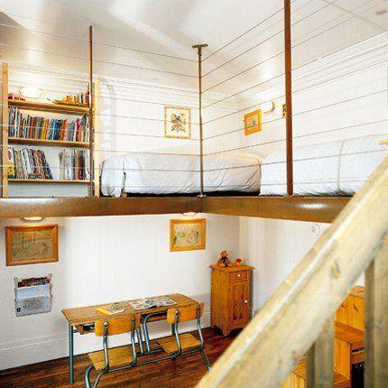 Chambre d\'ado : nos idées pour bien la décorer   Mezzanine, Les ...