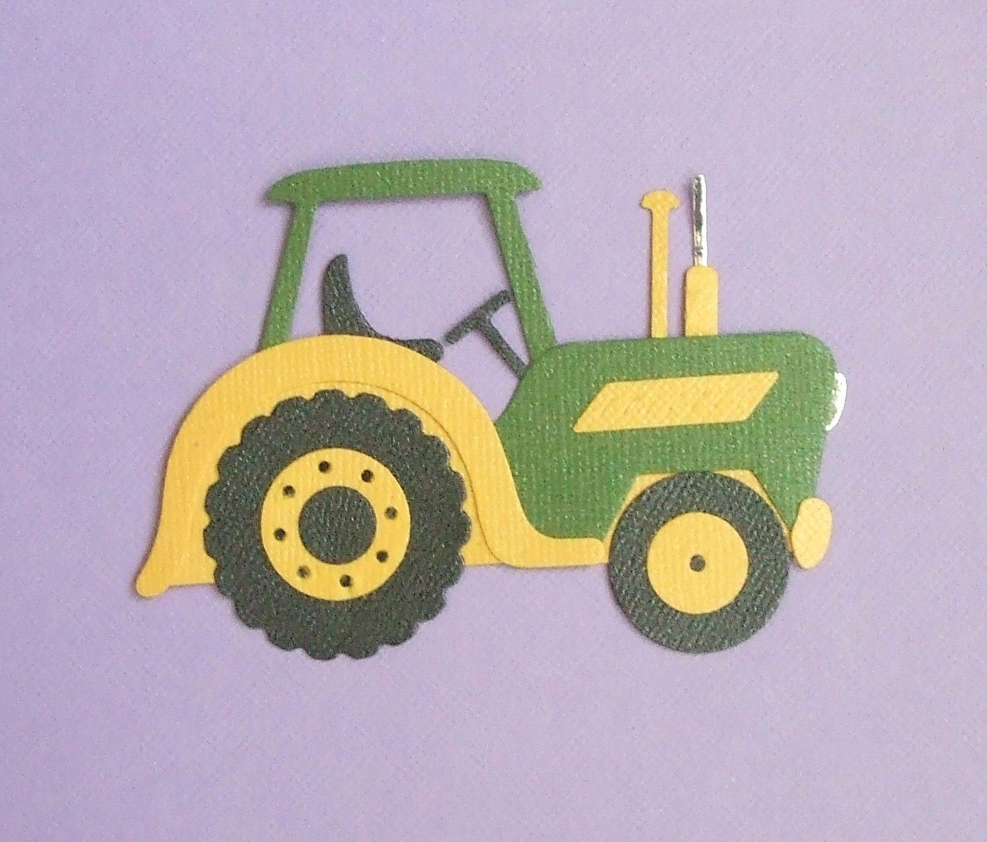John Deere Tractor Die Cuts Bazzill Bling by mydiecutboutique. $1.25 ...