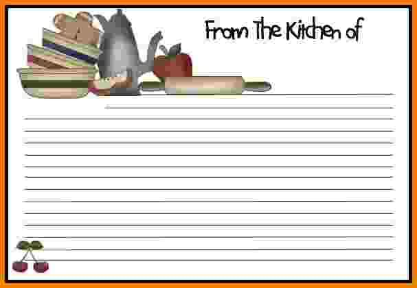Recipe Card Template Word doc 578386 free recipe card template