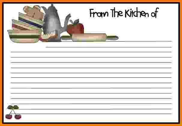 Recipe Card Template Word Doc  Free Recipe Card Template