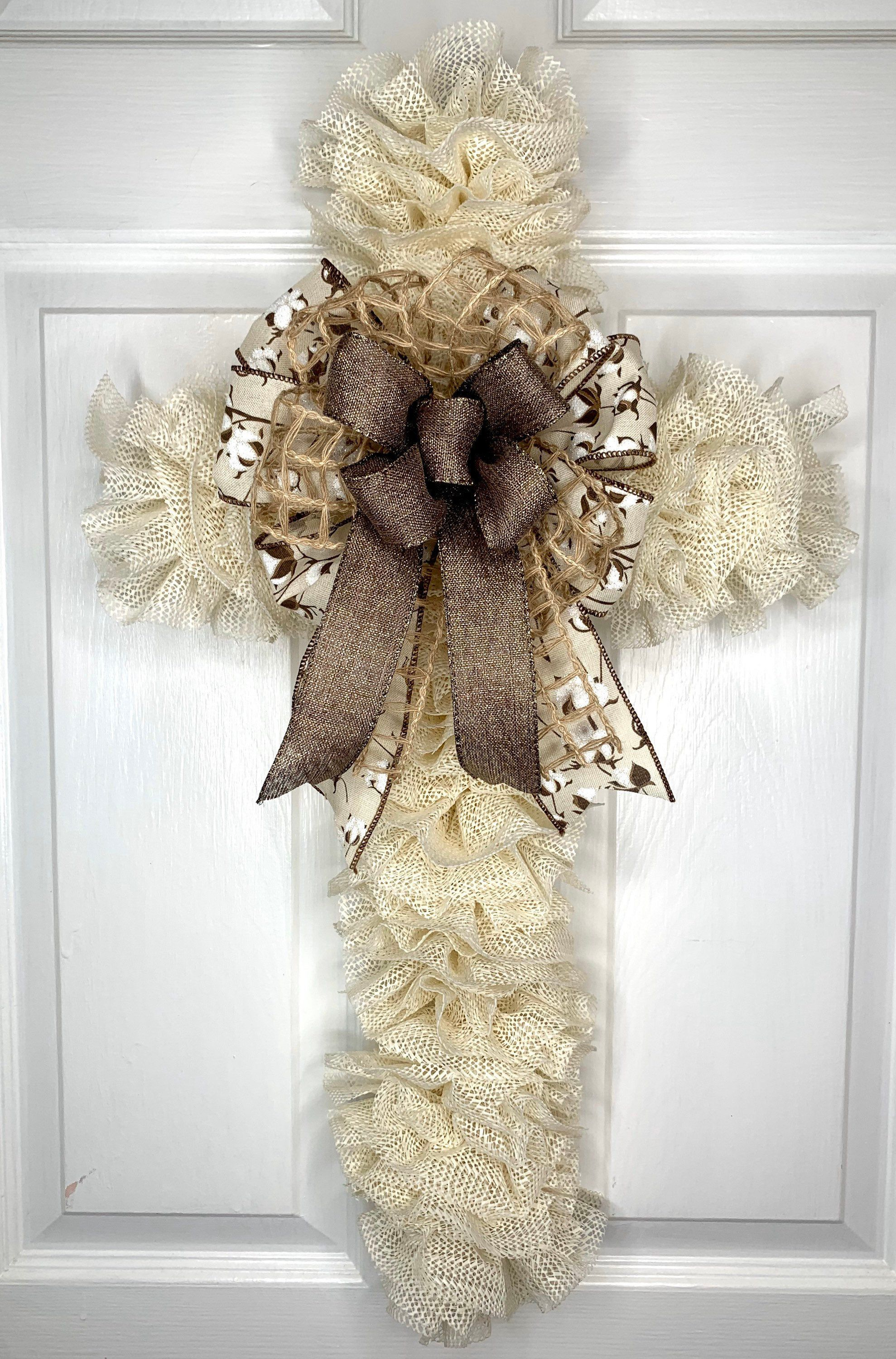 Easter Cross Wreath Easter Wreath Cross Wreath Rustic Cross Wreath Cross Door Hanger Memorial Wreath In 2020 Cross Wreath Rustic Cross Wreath Cross Wreath Diy