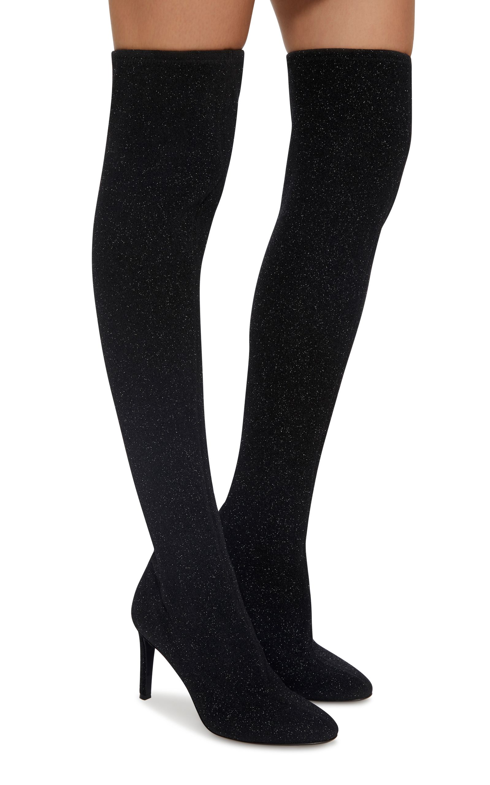 cfa0a1d8b8d37 Bimba Stretch-Knit Over-the-Knee Boots   winter 2018   Over the knee ...