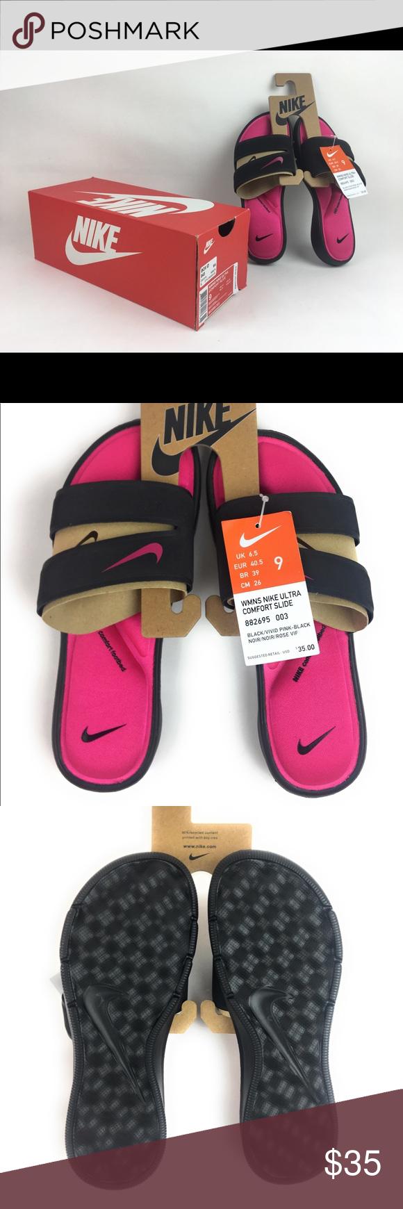 efc91f7d8272 Nike Ultra Comfort Pink Thong Slide Sandal Flip Nike Ultra Comfort Pink  Thong Slide Sandal Flip