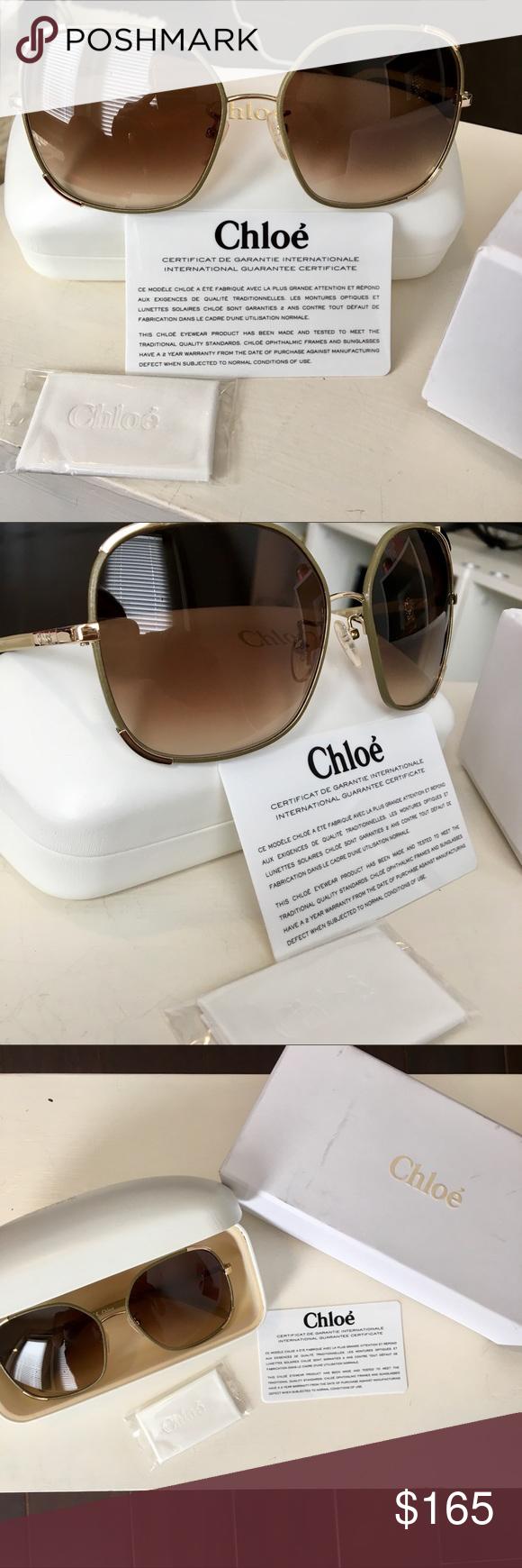 3102d2d42e08 ☀️CHLOE NWOT Oversized Sunglasses☀ NWOT CHLOE Oversized Army Green Square  Sunglasses with beautiful