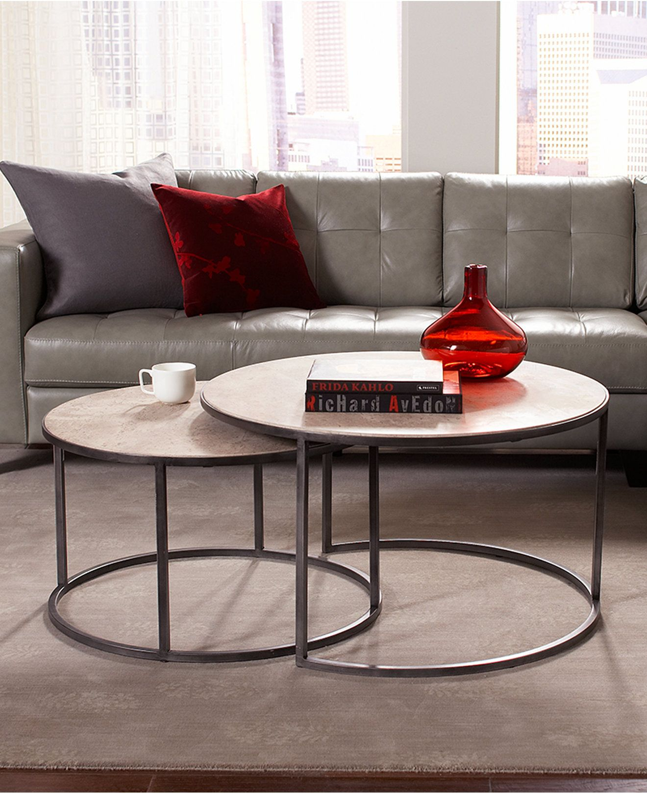 Monterey Round Table Furniture Collection Round Coffee Table Living Room Round Furniture Nesting Coffee Tables [ 1616 x 1320 Pixel ]