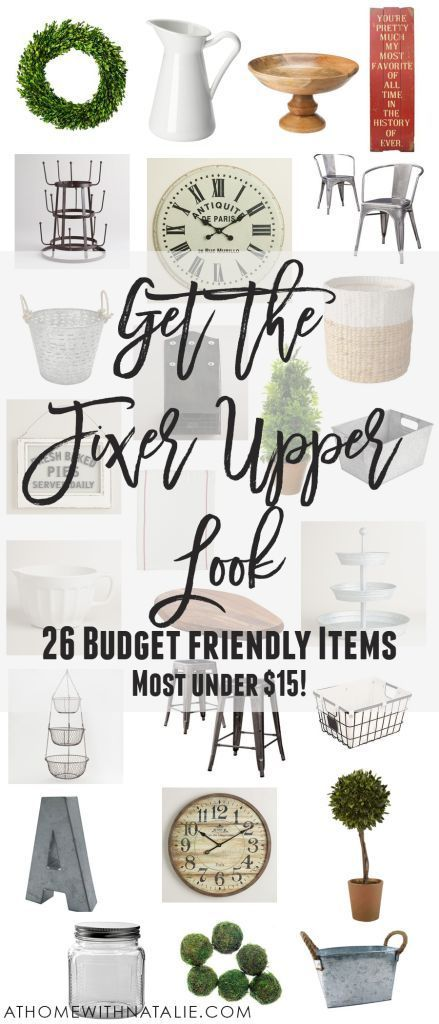 Get the Fixer Upper Look - 26 Budget Friendly Items -   24 farmhouse style on a budget